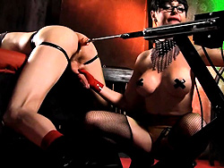Danielle and derrick fuck machine. Dirty Danielle fucks a tied up guy