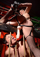 Danielle caged Lascivious post op Danielle make love her caged slave.